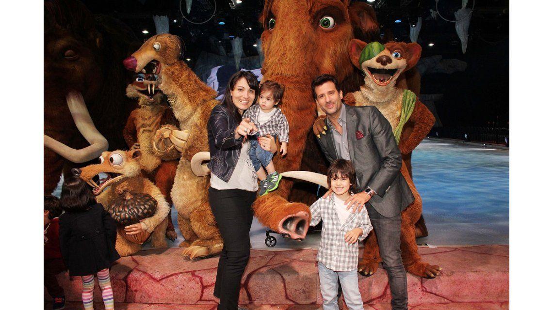Los famosos disfrutaron con sus hijos de La era de hielo On Ice en La Rural