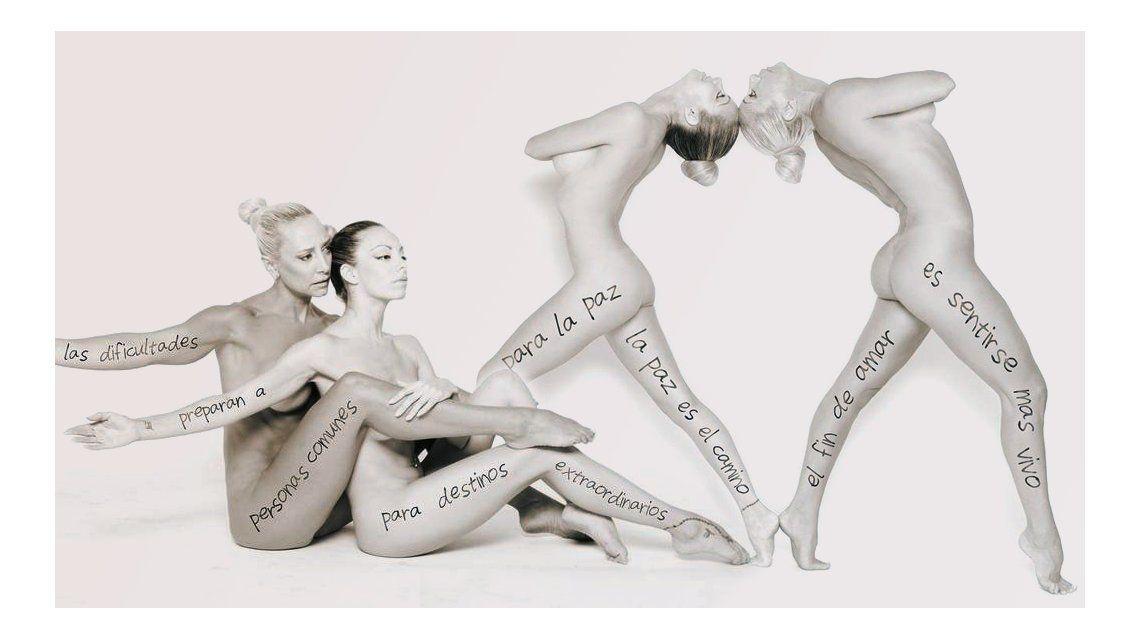 Andrea Ghidone y Gisela Bernal, desnudas para una campaña