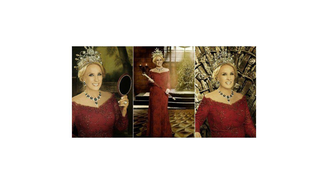 Mirtha Legrand y una foto de Games Of Trhones