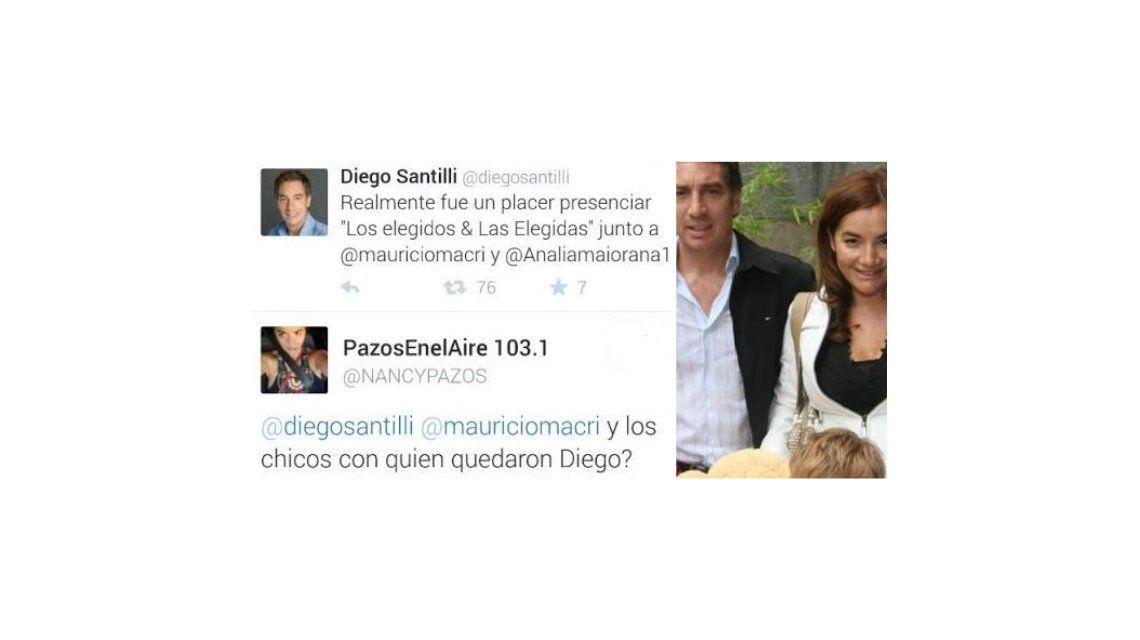 Santilli fue al Colón y su ex, Nancy Pazos le reprocha: ¿Los chicos de nuevo con la niñera?