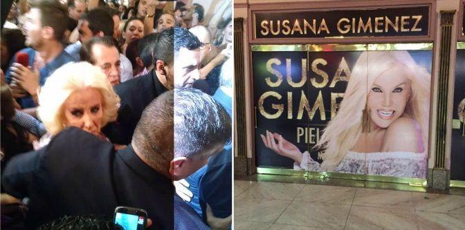 Mirtha Legrand estuvo al borde de las lágrimas y el desmayo cuando llegó al teatro para el debut de Susana Giménez