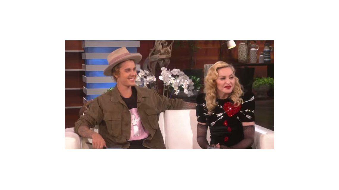 Las jugadas confesiones sexuales de Madonna y Justin Bieber en un programa de tv