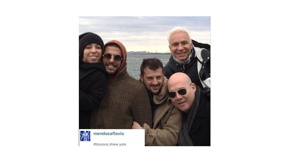 Flavio Mendoza con el elenco de Stravaganza en Nueva York: ¿cerrando gira internacional?