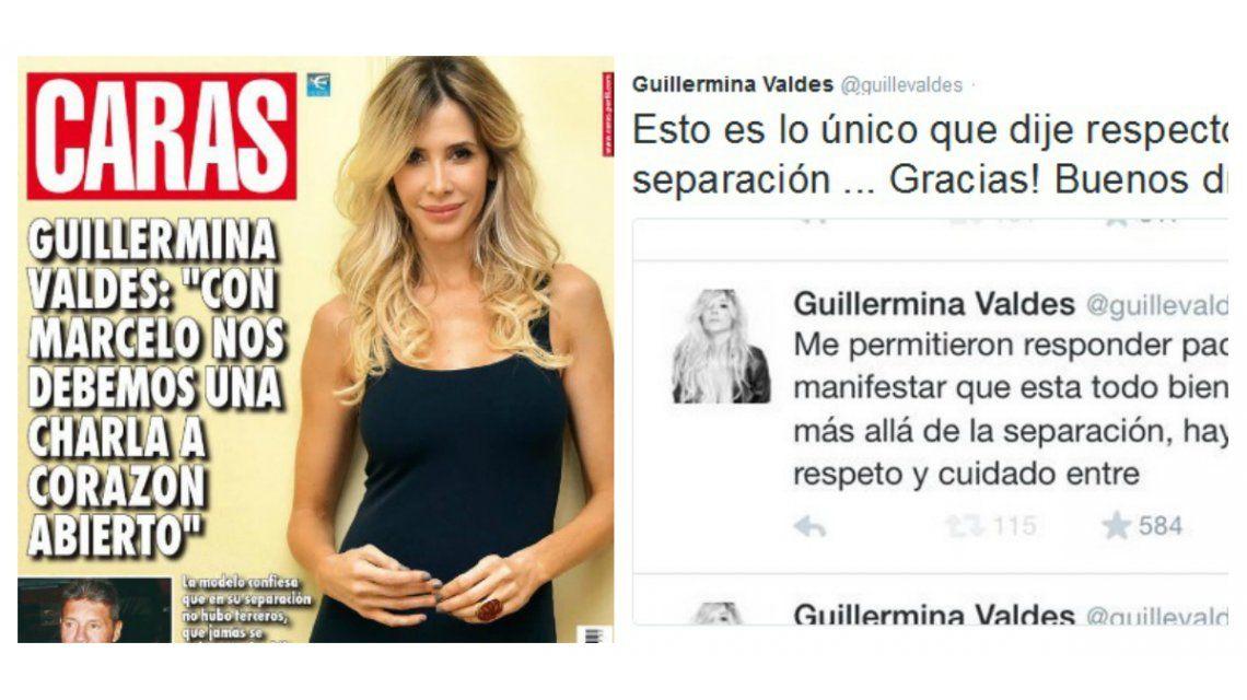 La crítica de Guillermina Valdés por su separación de Tinelli a una revista: ¿What?