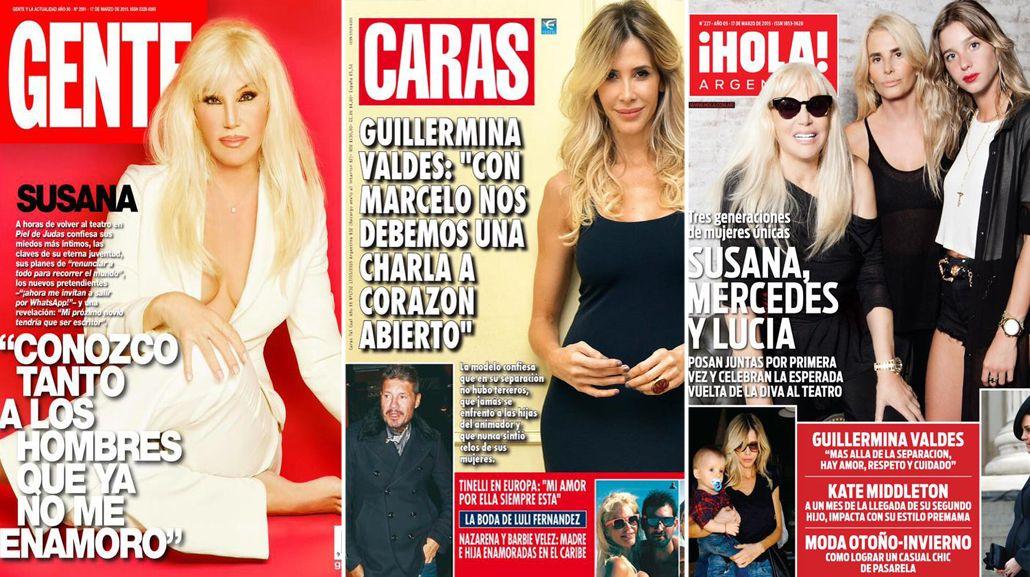 Susana Giménez con hija y nieta; Guillermina Valdes asegura: con Marce nos debemos una charla...
