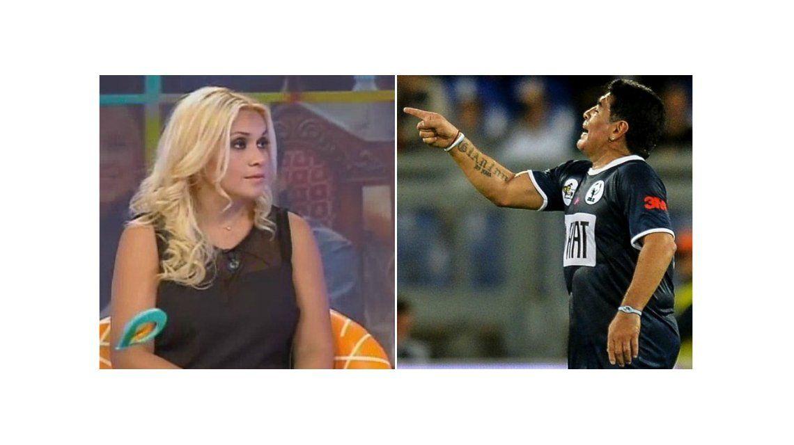 Mientras Verónica Ojeda rompió el silencio en televisión, Diego Maradona la amenazó desde Dubai