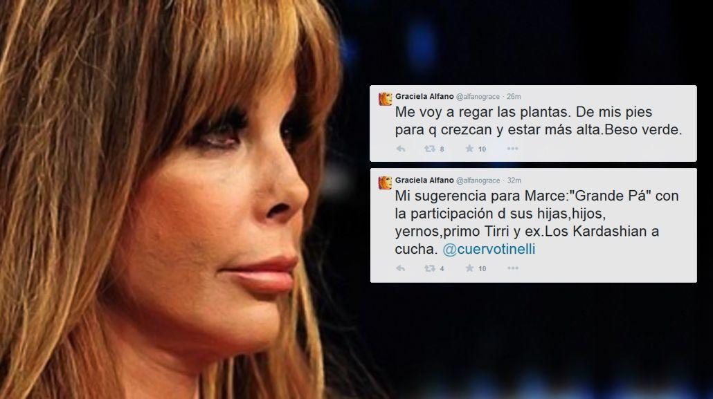 Graciela Alfano enloqueció en Twitter