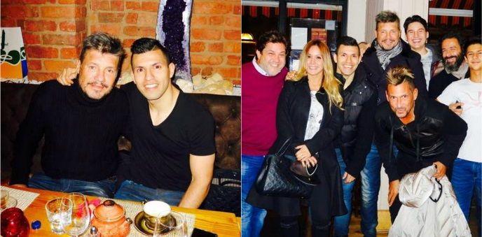 Tras su separación, Tinelli posó con el Kun Agüero en Manchester