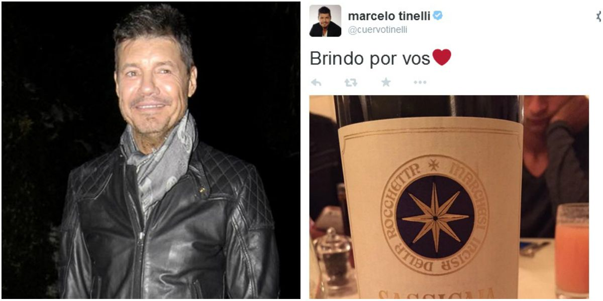 ¿A quién se lo dedicó? El misterioso tuit de Marcelo Tinelli: Brindo por vos