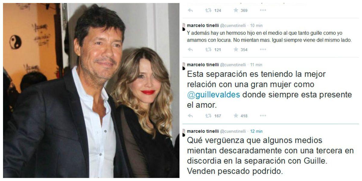 Tinelli: Esta separación es teniendo la mejor relación con una gran mujer como Guillermina
