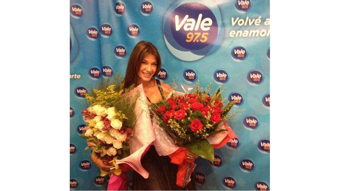 Cathy Fulop festejó su cumpleaños en Vale 97.5: la sorpresa de su marido, Ova Sabatini