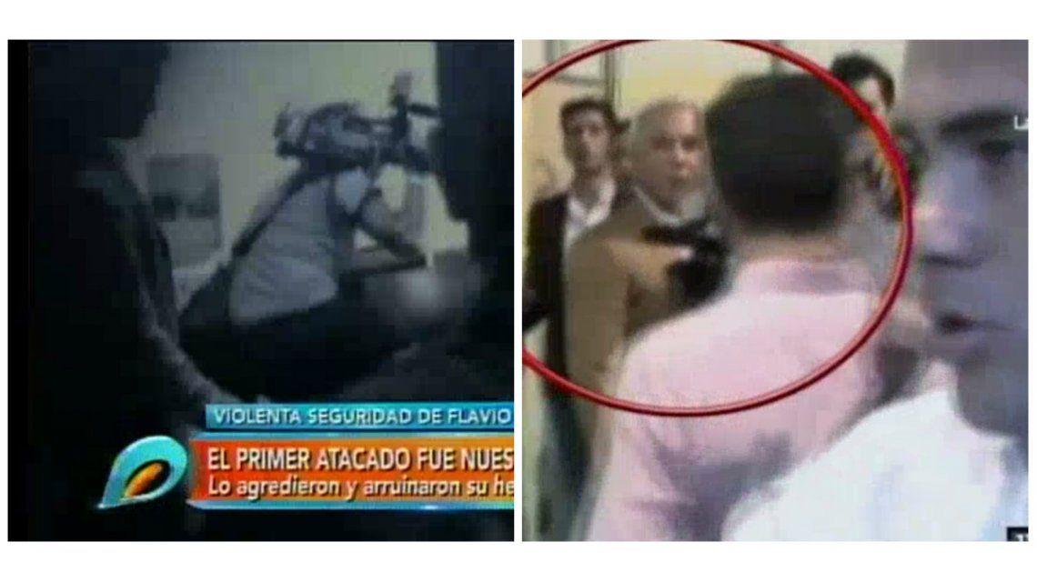 La agresión de un custodio de Flavio Mendoza al equipo de Intrusos