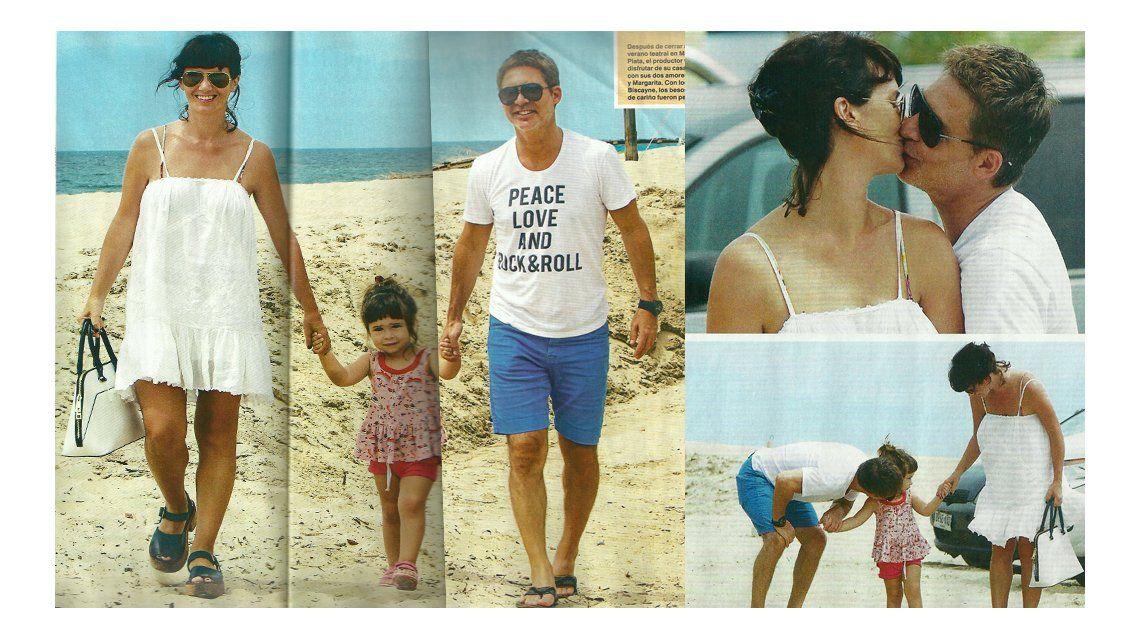 Descanso familiar para Adrián Suar, Griselda Siciliani y su hija Margarita en Punta del Este