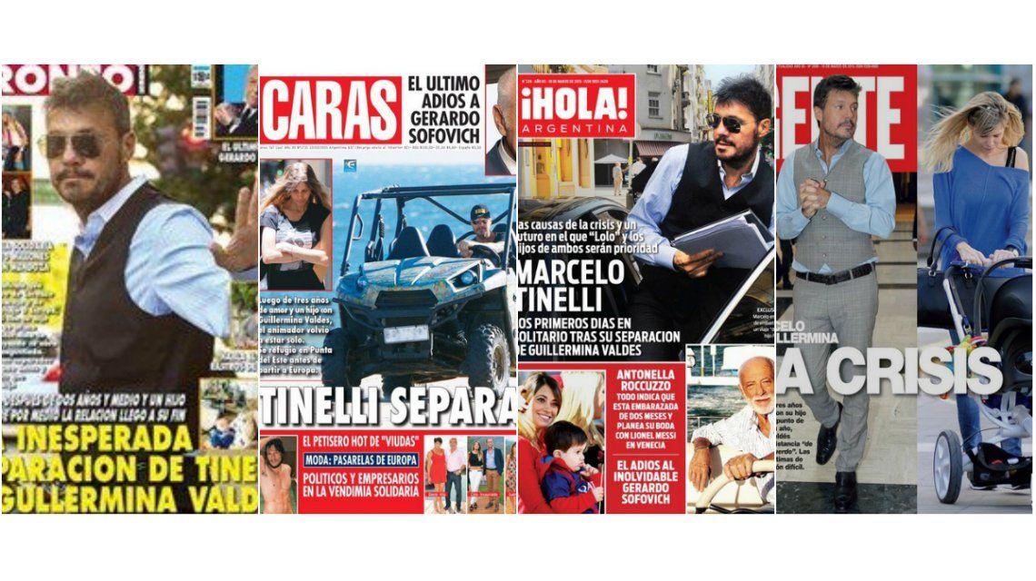 La separación del año, el tema del momento: Marcelo Tinelli, en crisis con Guillermina Valdes