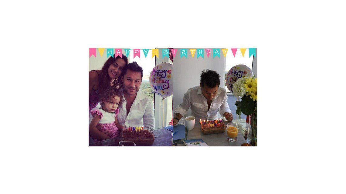 Diego Torres festejó su cumpleaños en Miami con Débora Bello y su hija Nina