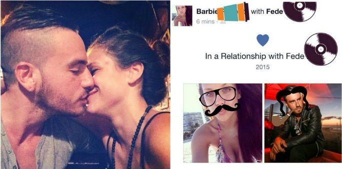 Barbie Vélez presionó a Fede Bal para que oficializara su noviazgo en Facebook: Marco territorio