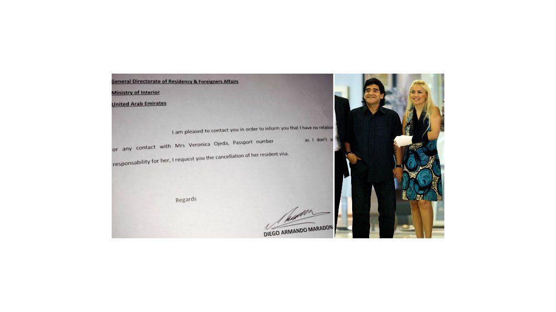 Diego Maradona le saca a Verónica Ojeda la residencia en Dubai y quiere echarla de la casa de Ezeiza