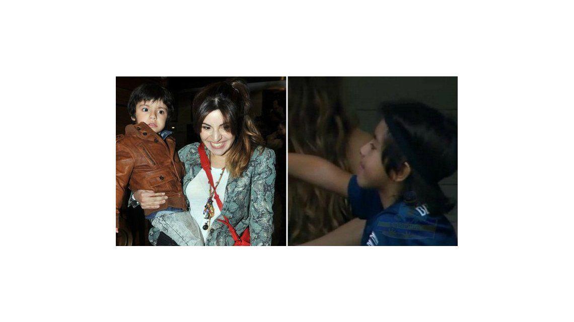 Siguen las provocaciones de Gianinna Maradona: le puso una camiseta de Boca a su hijo Benjamín Agüero