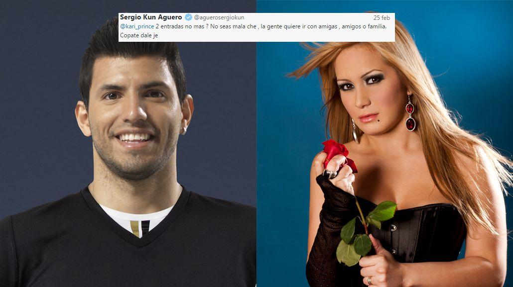El reproche tuitero del Kun Agüero a La Princesita: Decile a tu empresa que no sean amarretes