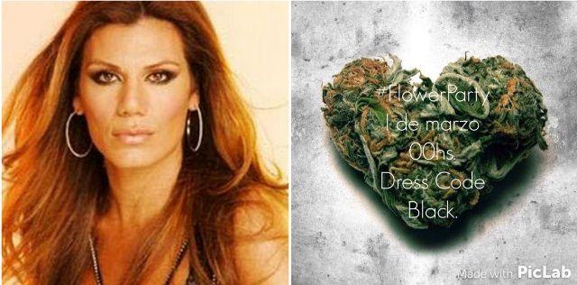La polémica invitación de cumpleaños de Florencia de la V: un corazón de marihuana