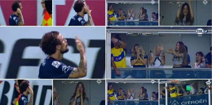 En medio de la polémica, Daniel Osvaldo hizo un gol y se lo dedicó a Jimena Barón: show de gestos