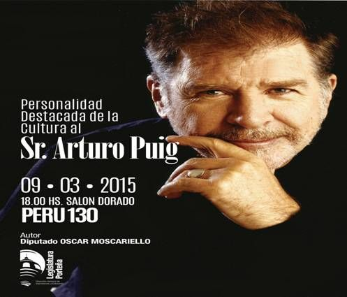 Arturo Puig, Personalidad Destacada de la Cultura