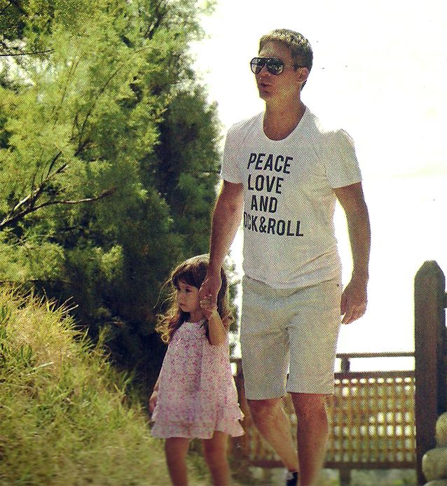 Adrián Suar, de paseo con su hija: Margarita me tiene completamente enamorado