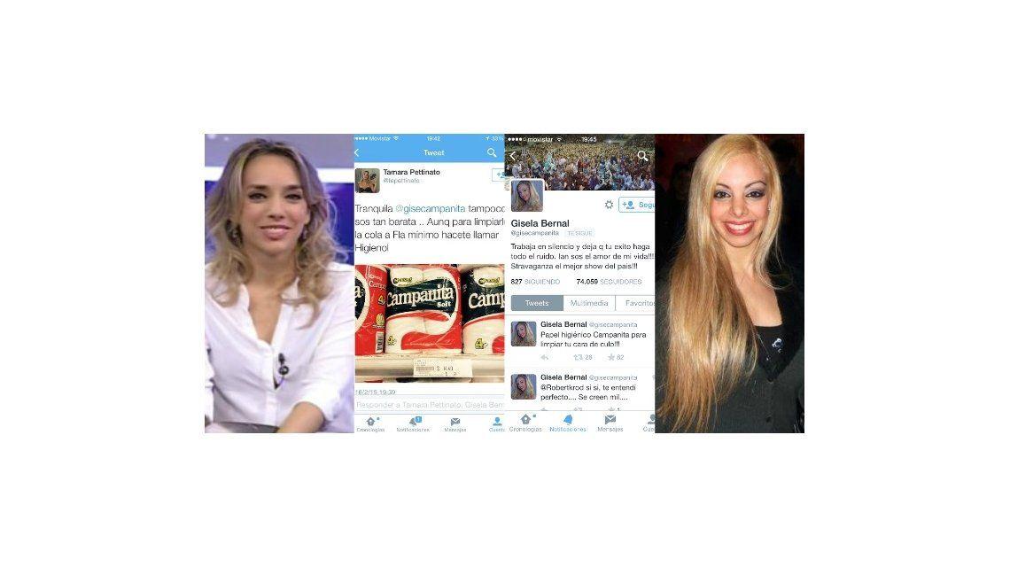 La escatológica guerra tuitera entre Tamara Pettinato y Gisela Bernal