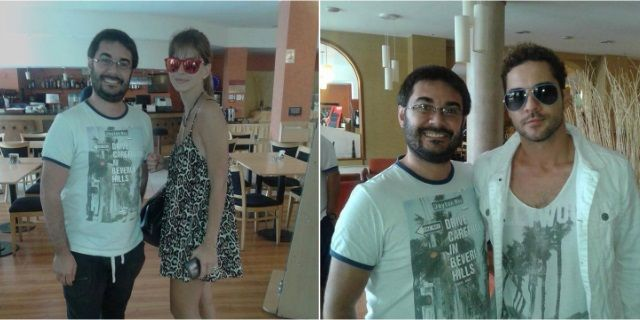 Las fotos de David Bisbal y la China Suárez juntos pero separados: ella lo persigue y él se escapa