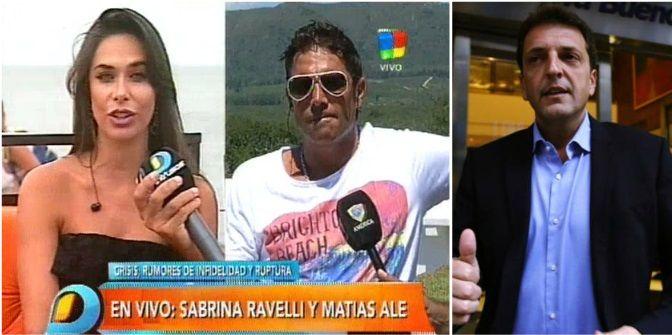 Matías Alé, peleado con Sabrina Ravelli: Sergio Massa hizo una joda muy fuera de lugar sobre nuestro casamiento