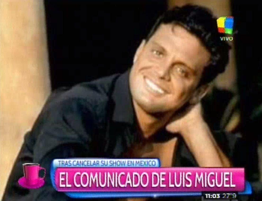 El comunicado oficial de Luis Miguel luego de que cancelara su recital
