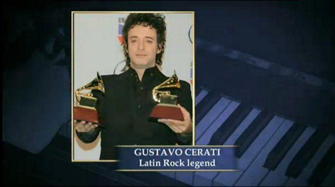 La noche de los premios Grammy tuvo su momento emotivo con un homenaje a Gustavo Cerati