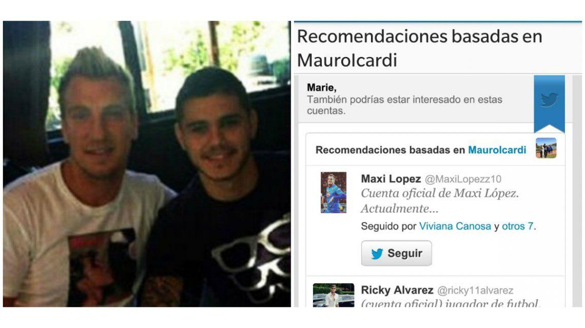 No puede haber tanta maldad: en el Twitter de Icardi recomiendan seguir a Maxi López