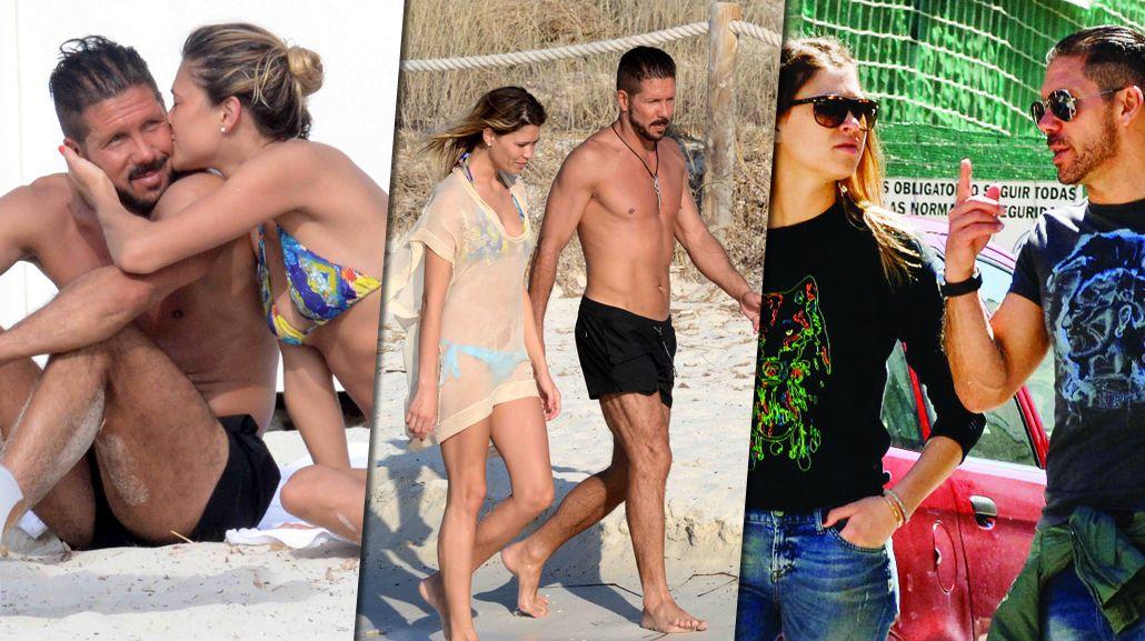 El Cholo Simeone se fue a vivir con la bella y sexy Carla Pereira