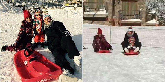 El divertido video de Lionel Messi, Antonella Roccuzzo y Thiago en Andorra: ¿Quién ganó la carrera en la nieve?