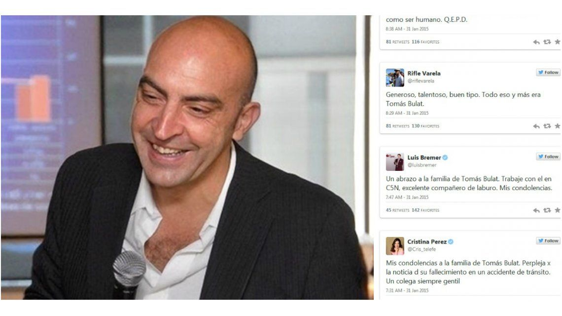 Así despidieron los famosos a Tomás Bulat en las redes sociales