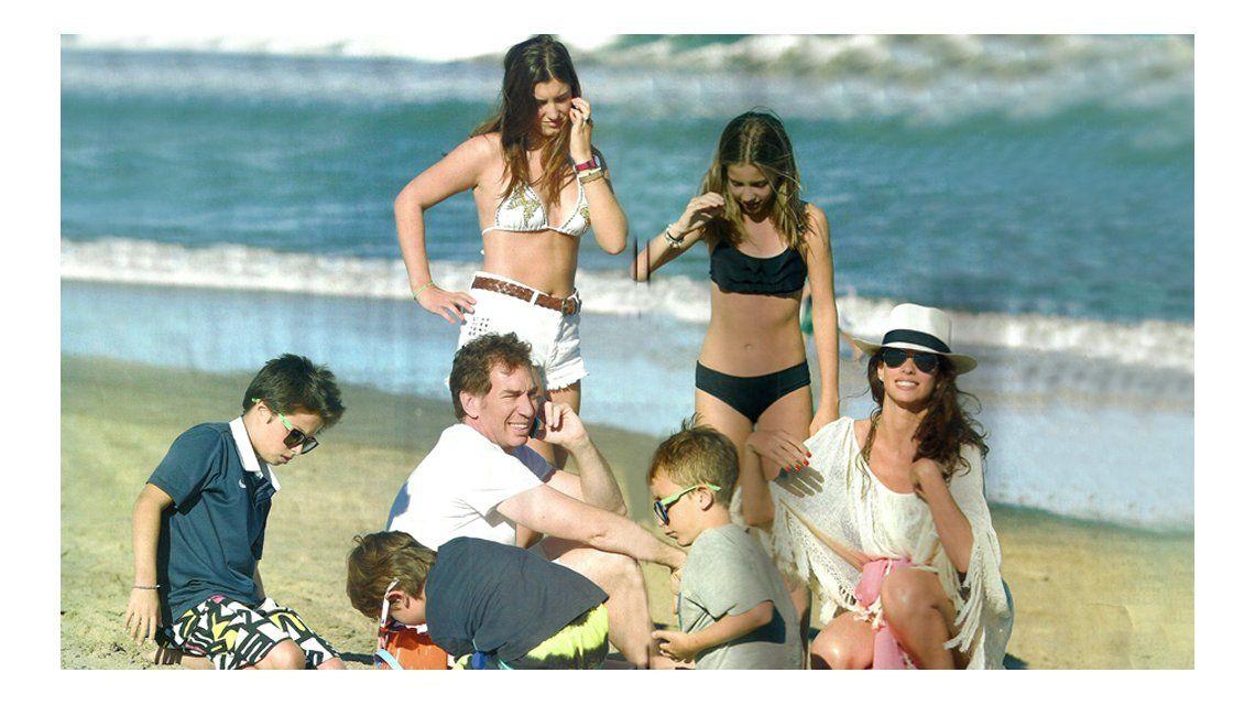 El primer veraneo de Diego Santilli y Analía Maiorana con los hijos de Nancy Pazos