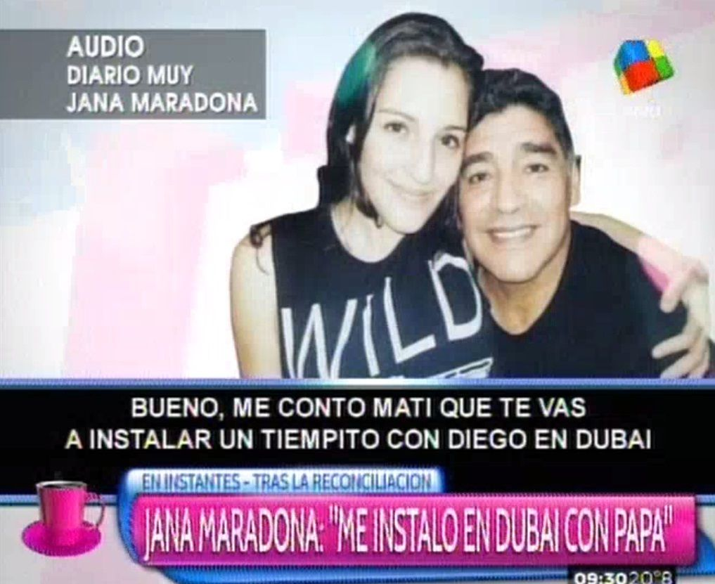 Jana Maradona: Me instalo en Dubai con papá, en Argentina no podemos tener un vínculo normal
