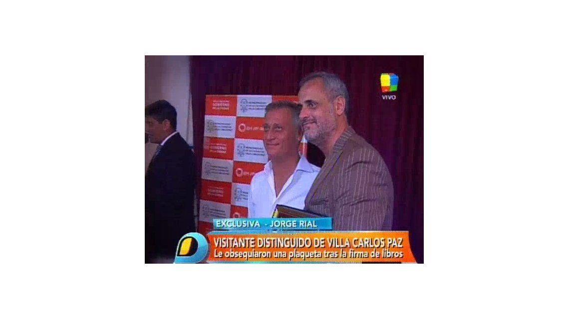 Jorge Rial presentó su libro en Villa Carlos Paz y fue declarado Visitante Ilustre