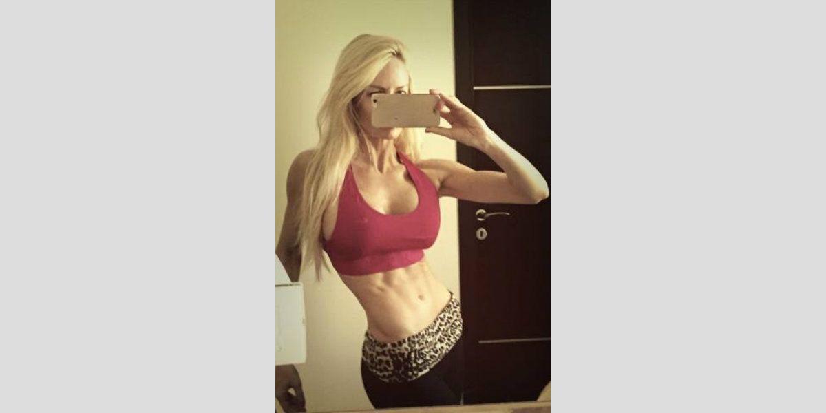 Luciana Salazar no afloja con el ejercicio ni siquiera con el calor extremo