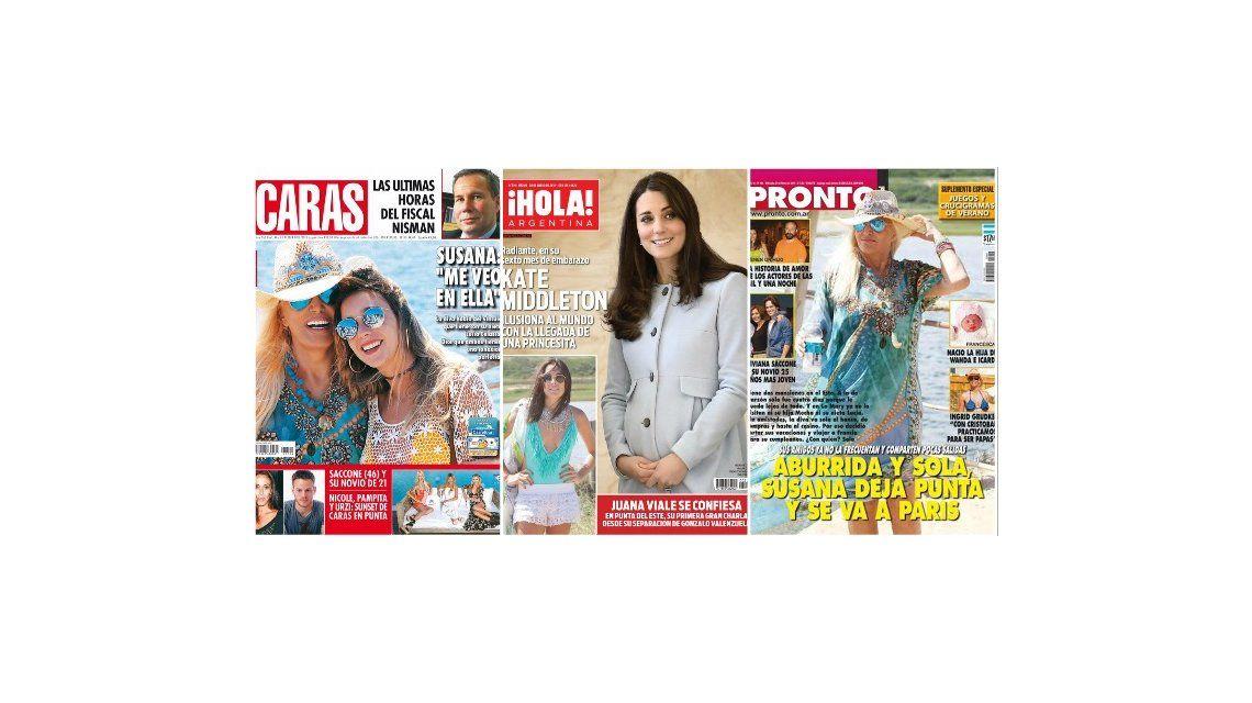 Tapas de revistas: Susana Giménez y su nieta en Punta del Este; y las confesiones de Juana Viale