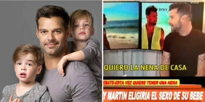 Polémica por la decisión de Ricky Martin de agrandar la familia: se viene una nena