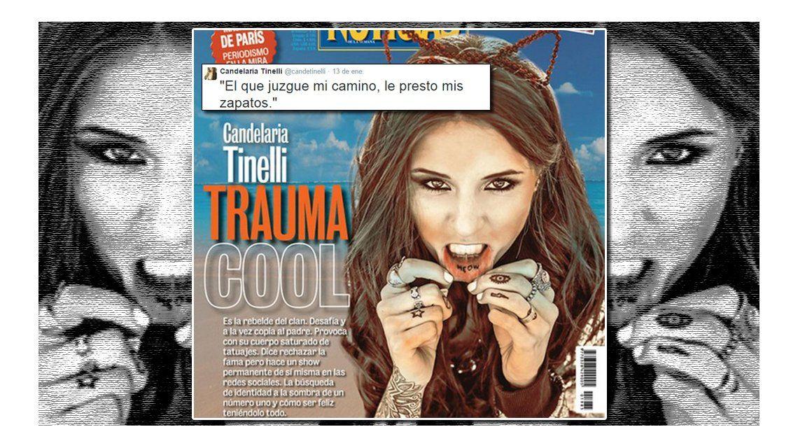 La furiosa reacción de Candelaria Tinelli por la polémica tapa Trauma cool