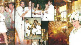 Nico Repetto y Florencia Raggi estrenaron su mansión con la fiesta de blanco