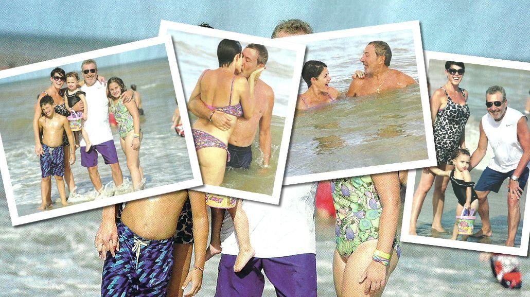 Pamela David, vacaciones en familia y mimos con Daniel Vila en Pinamar