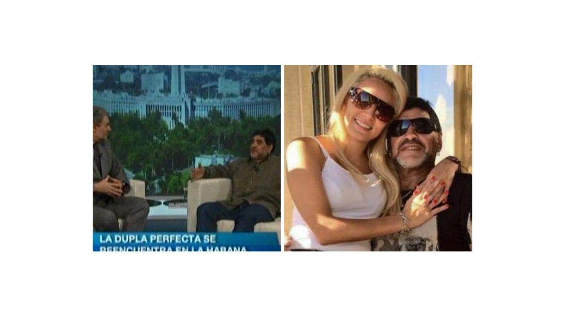 Diego Maradona le dedicó el inicio de De Zurda a Rocío Oliva: ¿qué le recordó?