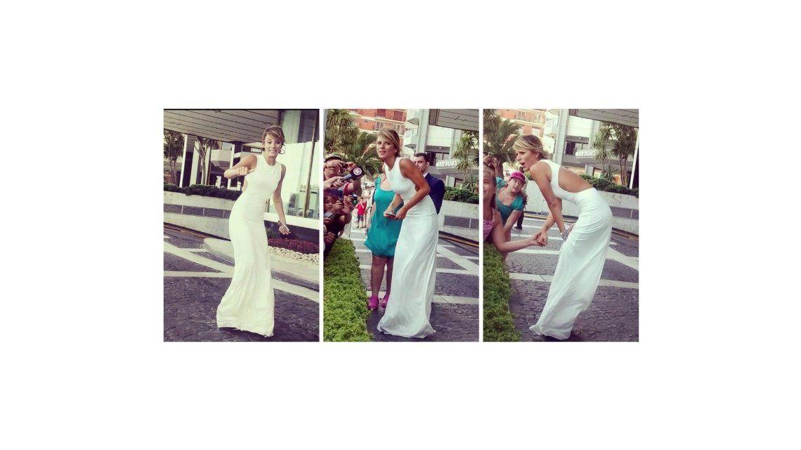 De punta en blanco: el look sensual de Gimena Accardi