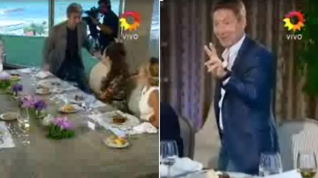 Adrián Suar y Ricardo Darín se levantaron de la mesa de Mirtha, en medio del almuerzo
