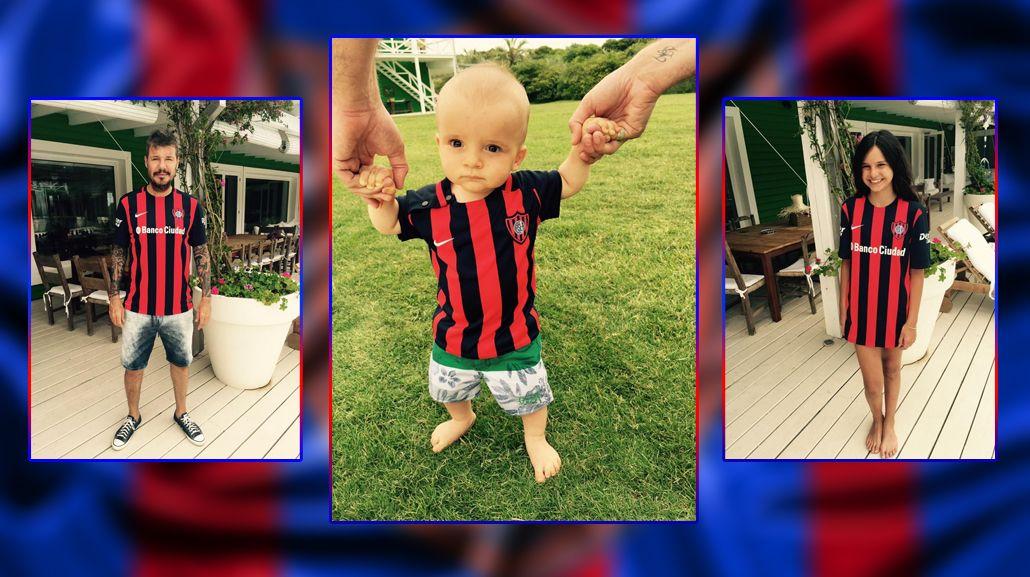 Tinelli y sus cuervitos presentaron la nueva camiseta de San Lorenzo