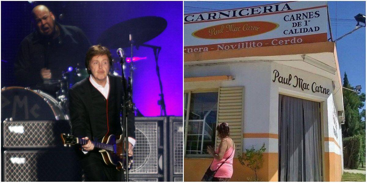 Paul McCartney, encantado con el tributo que le hizo un carnicero muy pícaro